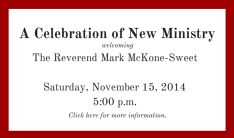 Celebration of New Ministry