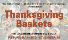 2014 Thanksgiving baskets