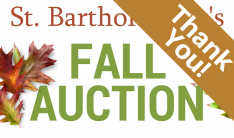 Fall Auction Thank You