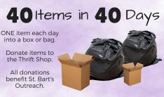 40 Items 40 Days