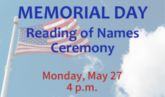 Memorial Day Reading of Names Ceremony