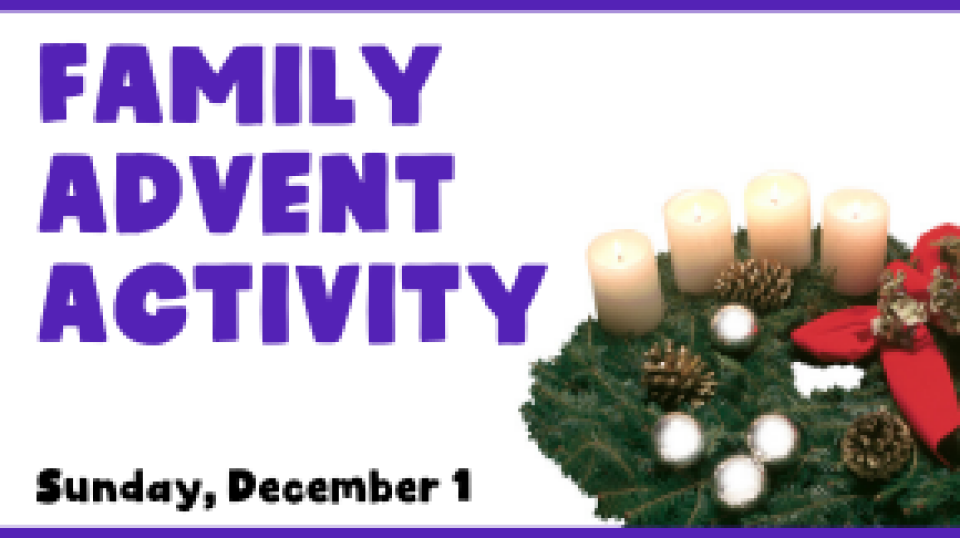 Advent Faith-at-Home Workshop