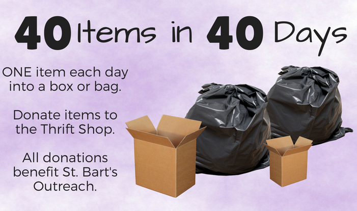 40 Items in 40 Days