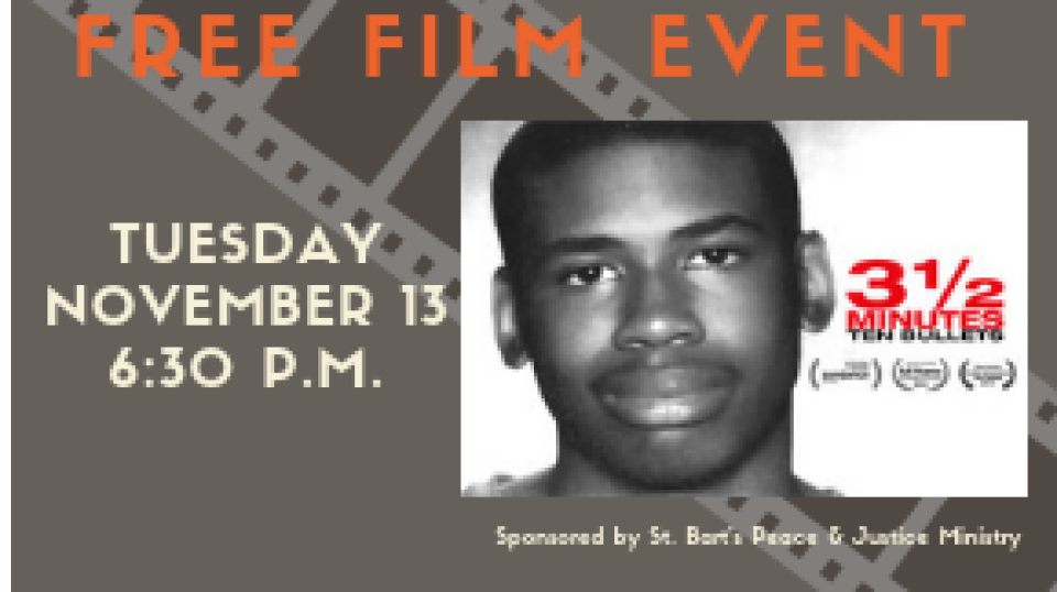 Free Film Event: 3 1/2 Minutes 10 Bullets