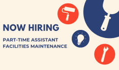 Now Hiring Part-Time Assistant Facilities Maintenance