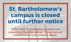 St. Bartholomew's is closed