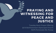 Praying and Witnessing for Peace and Justice